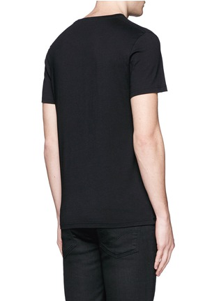 Alexander McQueen-Skull rope embroidery T-shirt