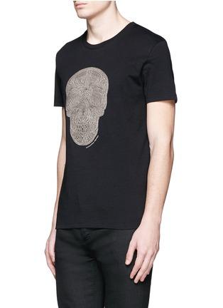 ALEXANDER MCQUEEN-骷髅头刺绣纯棉T恤