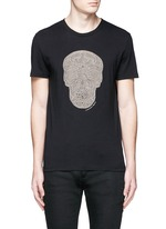 Skull rope embroidery T-shirt
