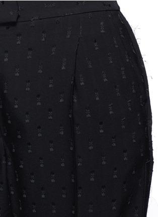 Detail View - Click To Enlarge - Alexander McQueen - Fil coupé crepe wide leg pants
