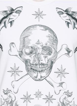 Alexander McQueen-Skull tattoo embroidery sweatshirt