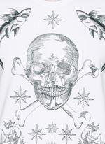 Skull tattoo embroidery sweatshirt