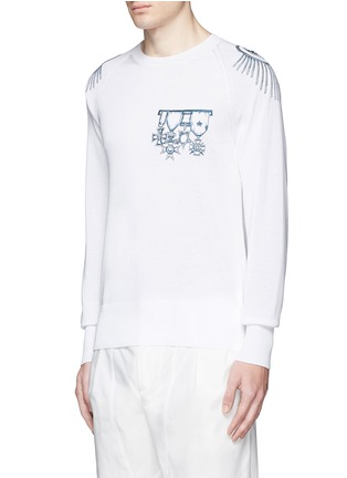 Alexander McQueen - Nautical embroidery cotton sweater