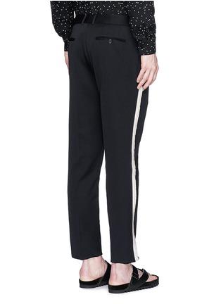 Alexander McQueen-Fringe side trim slim fit wool pants