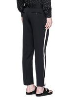 Fringe side trim slim fit wool pants
