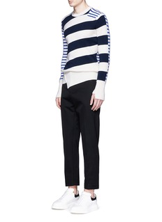 ALEXANDER MCQUEENStripe wool-cotton sweater
