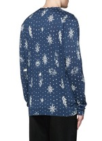 Nautical polka dot print cotton-silk cardigan