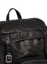 'Hunting' leather backpack