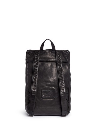 Back View - Click To Enlarge - SAINT LAURENT - 'Hunting' leather backpack