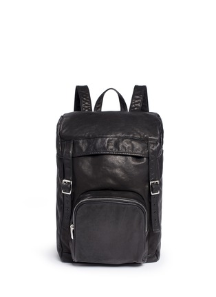 Main View - Click To Enlarge - SAINT LAURENT - 'Hunting' leather backpack