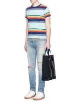 'Beach Shopper' stripe canvas tote bag