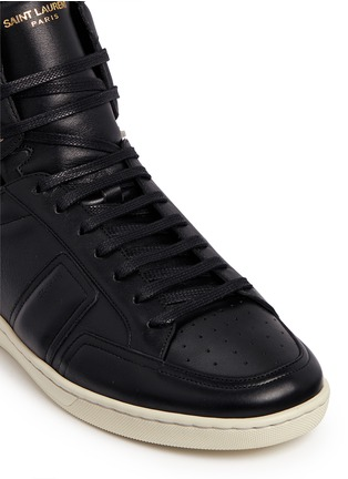 Detail View - Click To Enlarge - SAINT LAURENT - 'SL/34' zip ankle leather high top sneakers