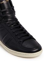 'SL/34' zip ankle leather high top sneakers