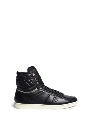 Main View - Click To Enlarge - SAINT LAURENT - 'SL/34' zip ankle leather high top sneakers