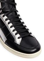 'SL/34' metallic star leather high top sneakers