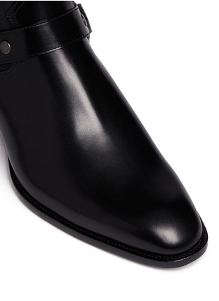 Detail View - Click To Enlarge - Saint Laurent - 'Wyatt 40' harness leather boots