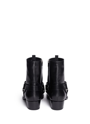 Back View - Click To Enlarge - Saint Laurent - 'Wyatt 40' harness leather boots