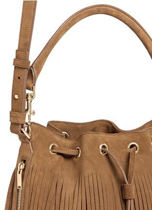 Saint Laurent-'Emmanuelle' fringe suede bucket bag