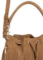 'Emmanuelle' fringe suede bucket bag