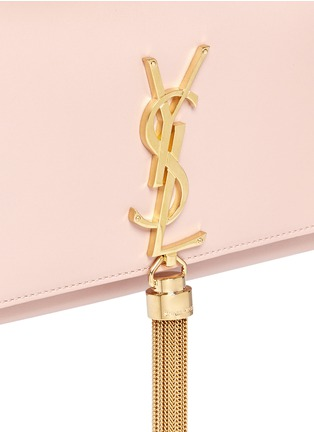 Detail View - Click To Enlarge - SAINT LAURENT - 'Monogram' small chain tassel leather bag