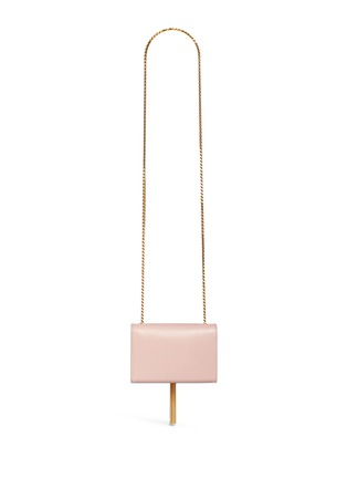 Back View - Click To Enlarge - SAINT LAURENT - 'Monogram' small chain tassel leather bag