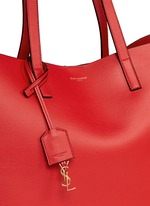 Large calfskin leather tote