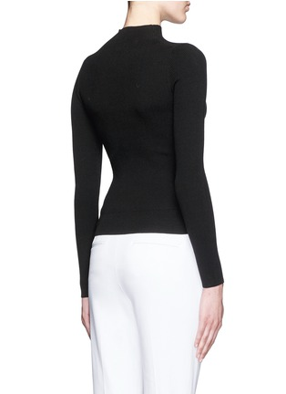 Back View - Click To Enlarge - Theory - 'Emid K' funnel neck cropped sweater