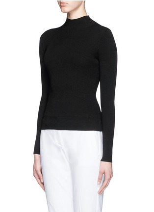 Front View - Click To Enlarge - Theory - 'Emid K' funnel neck cropped sweater