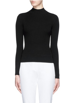Main View - Click To Enlarge - Theory - 'Emid K' funnel neck cropped sweater