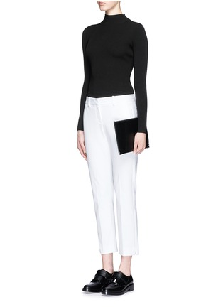 Figure View - Click To Enlarge - Theory - 'Emid K' funnel neck cropped sweater