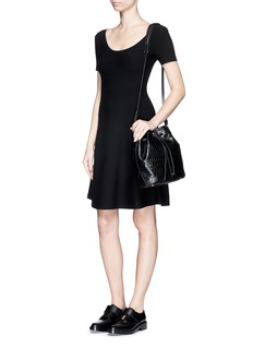 THEORY 'Codris C' scoop neck flare dress