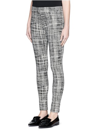 Front View - Click To Enlarge - Theory - 'Adbelle K' grid stretch knit pants