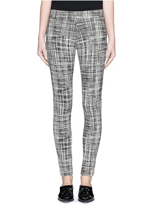 Main View - Click To Enlarge - Theory - 'Adbelle K' grid stretch knit pants