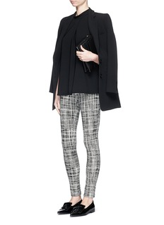 THEORY 'Adbelle K' grid stretch knit pants