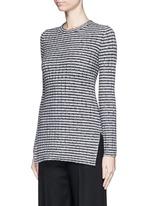 'Belira' wool stripe mélange knit sweater