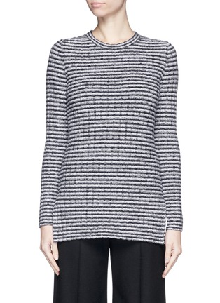 Main View - Click To Enlarge - Theory - 'Belira' wool stripe mélange knit sweater
