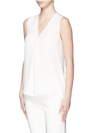 Front View - Click To Enlarge - Theory - 'Meighlan' silk georgette sleeveless top