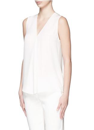 Theory-'Meighlan' silk georgette sleeveless top
