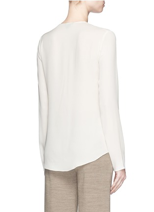 Back View - Click To Enlarge - Theory - 'Meniph' silk georgette long sleeve top
