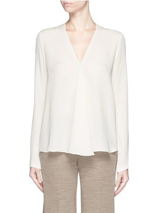 Main View - Click To Enlarge - Theory - 'Meniph' silk georgette long sleeve top