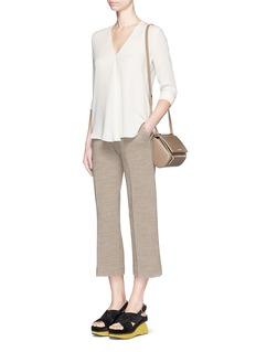 THEORY'Meniph' silk georgette long sleeve top