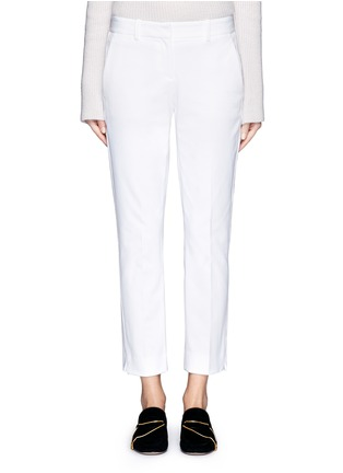 Main View - Click To Enlarge - Theory - 'Izelle C' cropped twill pants