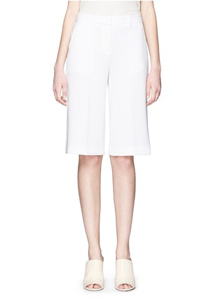 Main View - Click To Enlarge - Theory - 'Teemay' wide leg crepe shorts