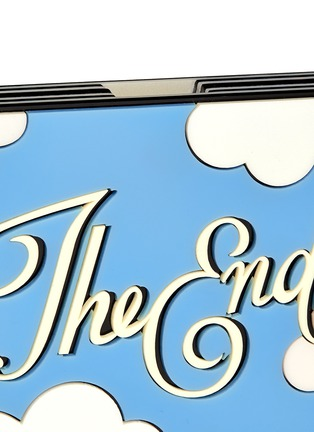 Detail View - Click To Enlarge - YAZBUKEY BAGS - 'The End' cloud Plexiglas clutch