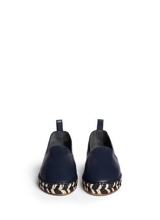 Figure View - Click To Enlarge - Proenza Schouler - Leather espadrille slip-ons