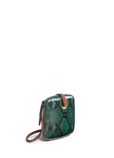 MARNIPython leather crossbody bag
