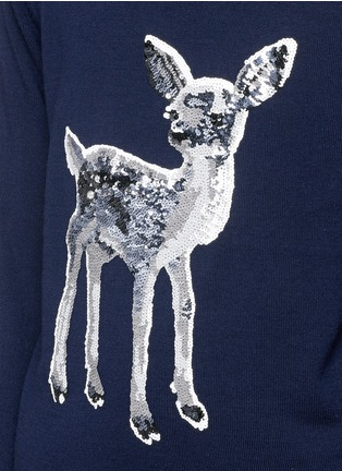 Detail View - Click To Enlarge - MARKUS LUPFER - 'Fawn' sequin Natalie sweater