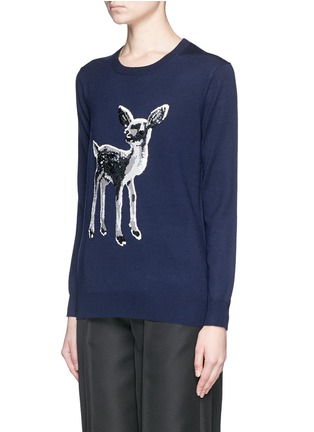 Front View - Click To Enlarge - MARKUS LUPFER - 'Fawn' sequin Natalie sweater