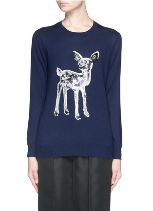 Main View - Click To Enlarge - MARKUS LUPFER - 'Fawn' sequin Natalie sweater