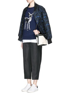 MARKUS LUPFER'Fawn' sequin Natalie sweater